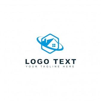 Logotipo hexagonal de casas