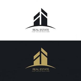 Logotipo inmobiliaria negro y dorado