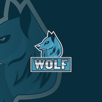 Logotipo lobo azul
