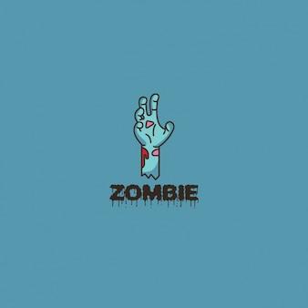 Logotipo mano zombie