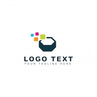 Logotipo moderno concepto de pixel