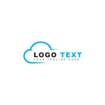 Logotipo moderno de nube