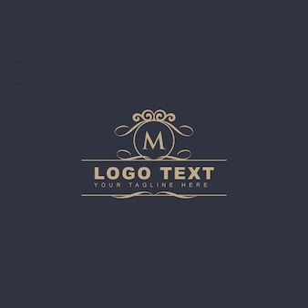 Logotipo ornamental letra m