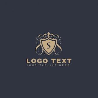 Logotipo ornamental letra s