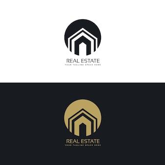 Logotipo redondo de inmobiliaria