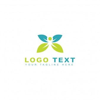 Logotipo verde saludable