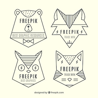 Logotipos animales geométricas