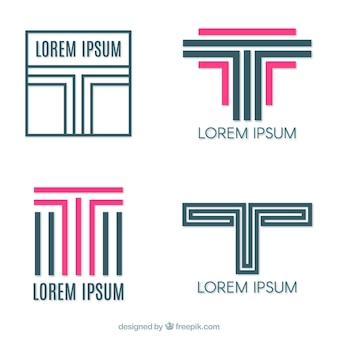 Logotipos de líneas con letra  t