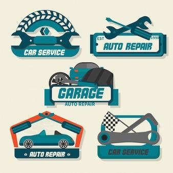 Logotipos de reparación de automóviles