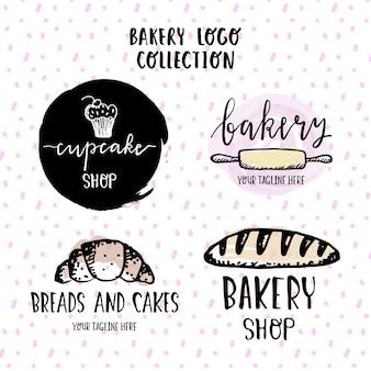 Logotipos dibujados a mano para una panadería