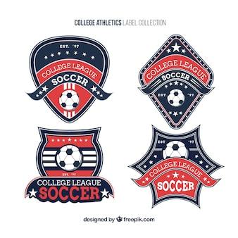 Logotipos para equipos universitarios de fútbol