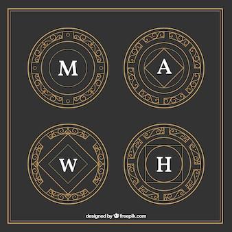 logoypes ornamentales de oro