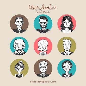 Los avatares de los usuarios de los Doodles
