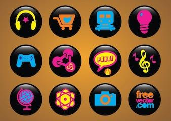 los iconos de los botones