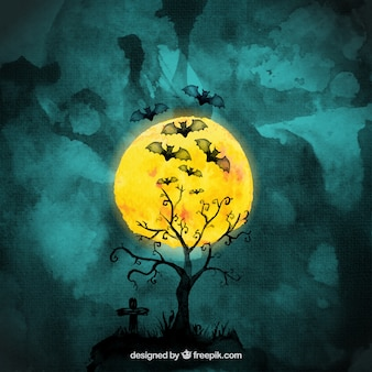 Los murciélagos de Halloween Acuarela