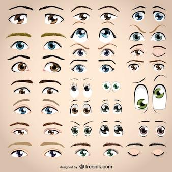 los ojos de vectores