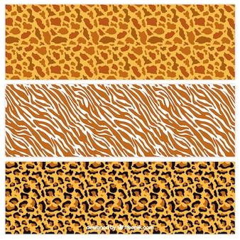 Los patrones de impresión animales salvajes