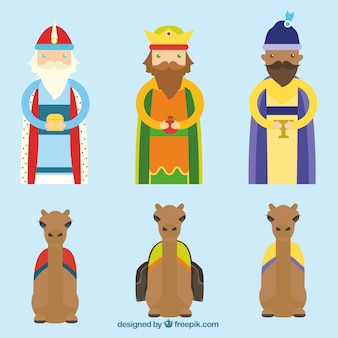 Los tres reyes magos y los camellos