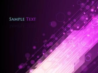 luces abstractas púrpura del vector del fondo gráficos