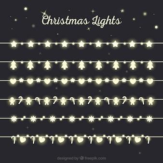 Luces de navidad de figuras