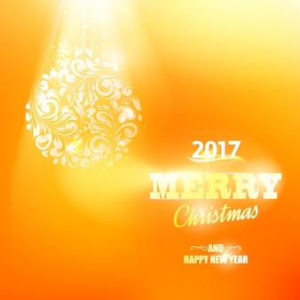 Lujosa tarjeta de navidad naranja