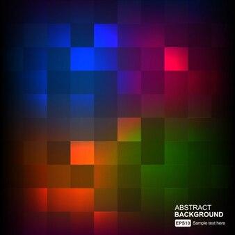Luminoso fondo abstracto con píxeles