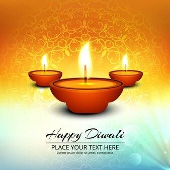Luminoso fondo abstracto con velas para diwali