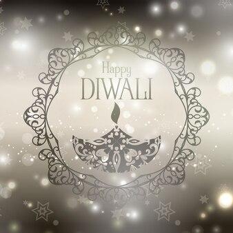 Luminoso fondo con estrellas para diwali