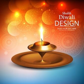 Luminoso fondo para celebrar diwali