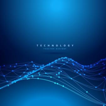 Malla de onda digital tecnológica