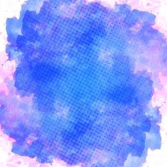 Mancha de acuarela, azul y rosa