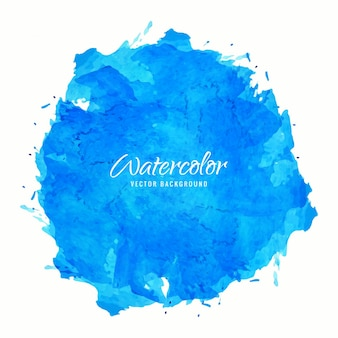 Mancha redonda de acuarela azul