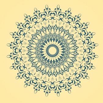 Mandala amarillo y azul