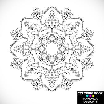 Mandala étnico para libro de colorear