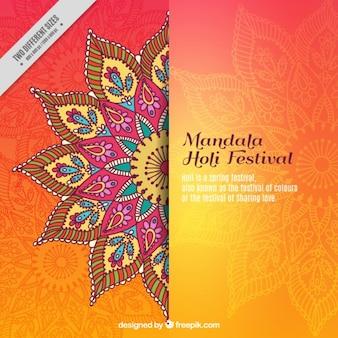 Mandala fondo el festival de Holi