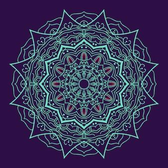 Mandala lujoso con fondo morado