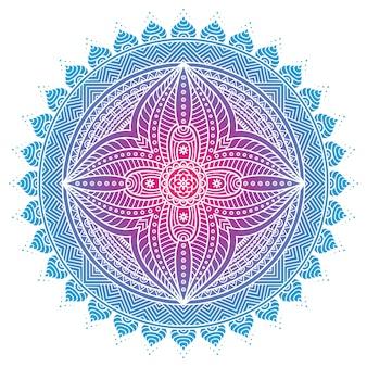 Mandala moderno azul brilloso