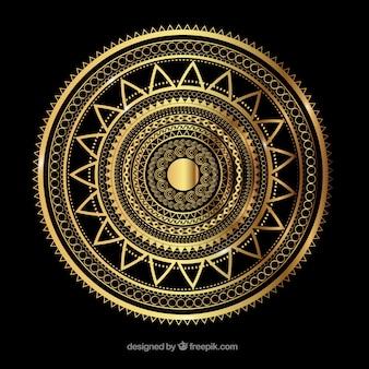Mandala ornamental dorada