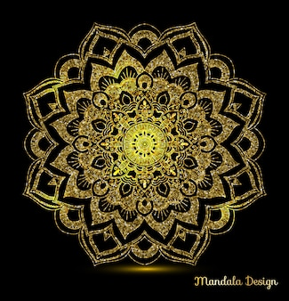 Mandala ornamental dorado