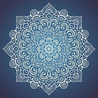 Mandala sobre un fondo azul oscuro