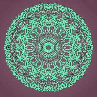Mandala turquesa