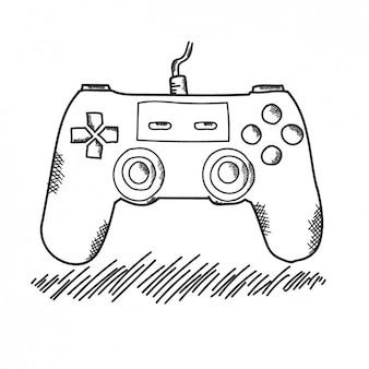 Mando de video consola dibujado a mano