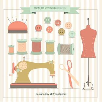 Maniquín con elementos de costura