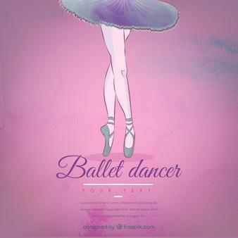Mano piernas encogidas bailarina de fondo