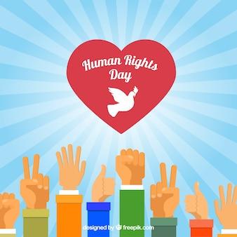 Manos diferentes y un corazón, día de los derechos humanos