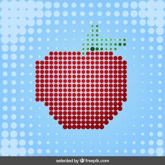 Manzana hecha con puntos