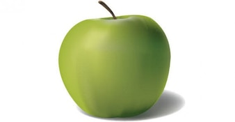 Manzana verde vector