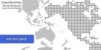Mapas de puntos con tres tamaños