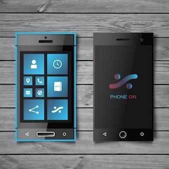 Maqueta de teléfonos inteligentes