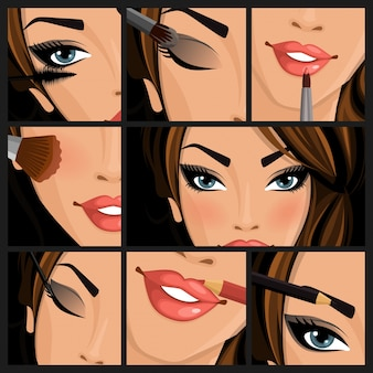 Maquillaje, belleza, mujer